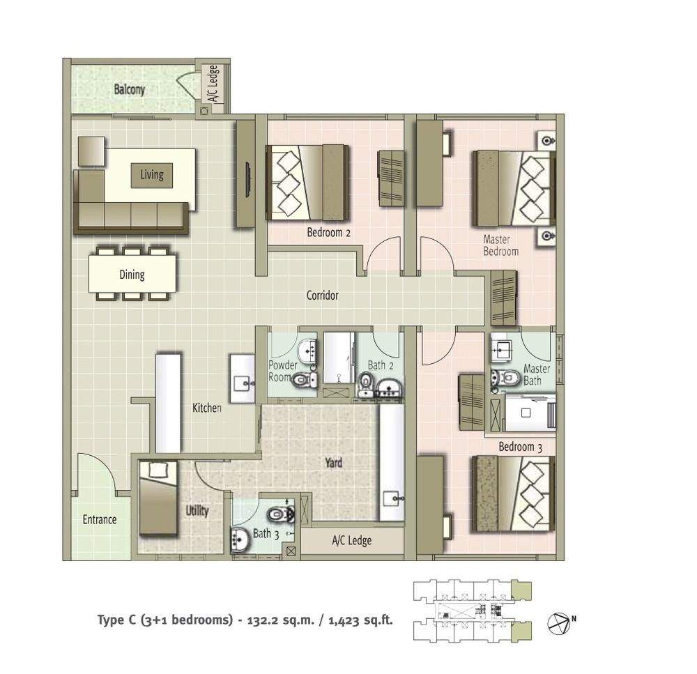 Glomac Centro Type C Floor Plan