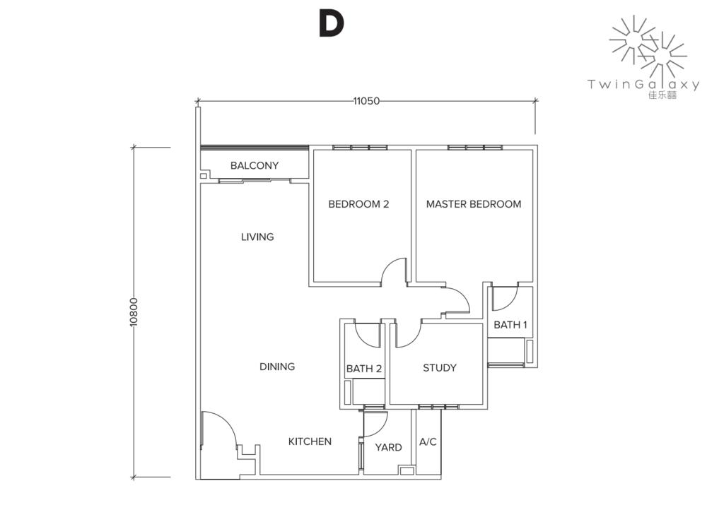 Twin Galaxy Type D Floor Plan