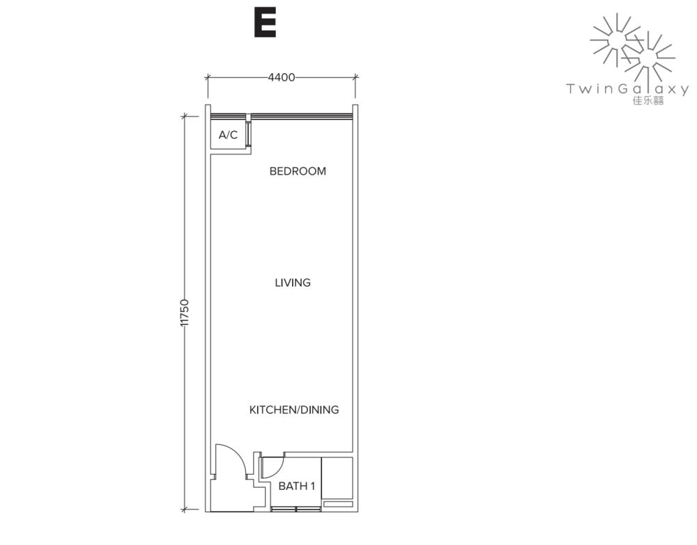 Twin Galaxy Type E Floor Plan