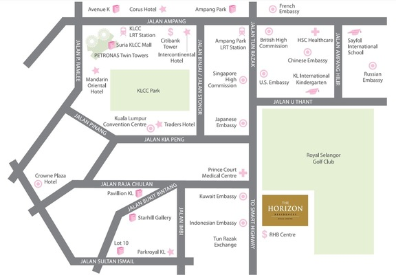 Master Plan of The Horizon Residences