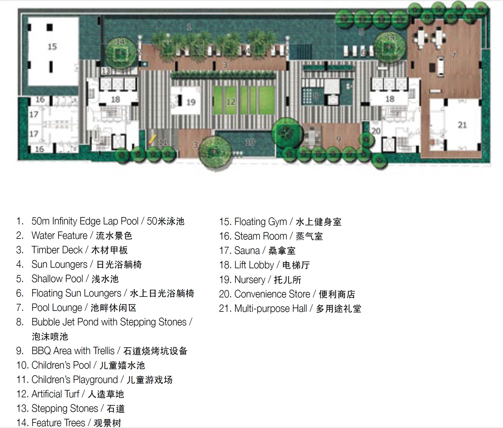 Site Plan of The Horizon Residences