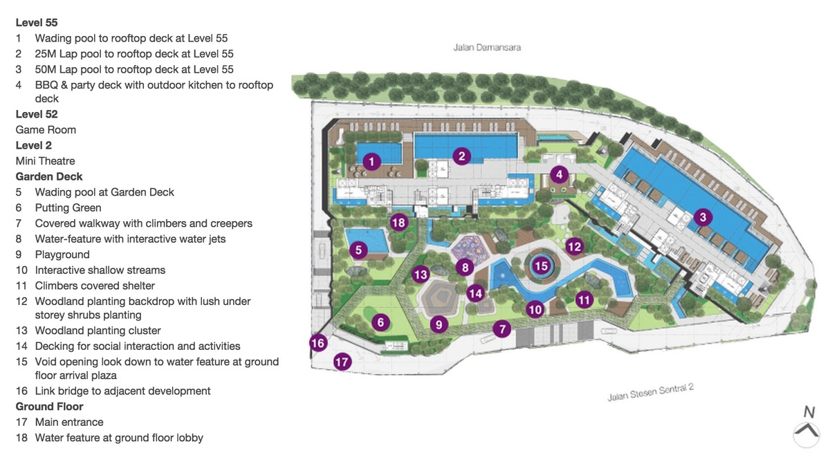 Master Plan of The Sentral Residences