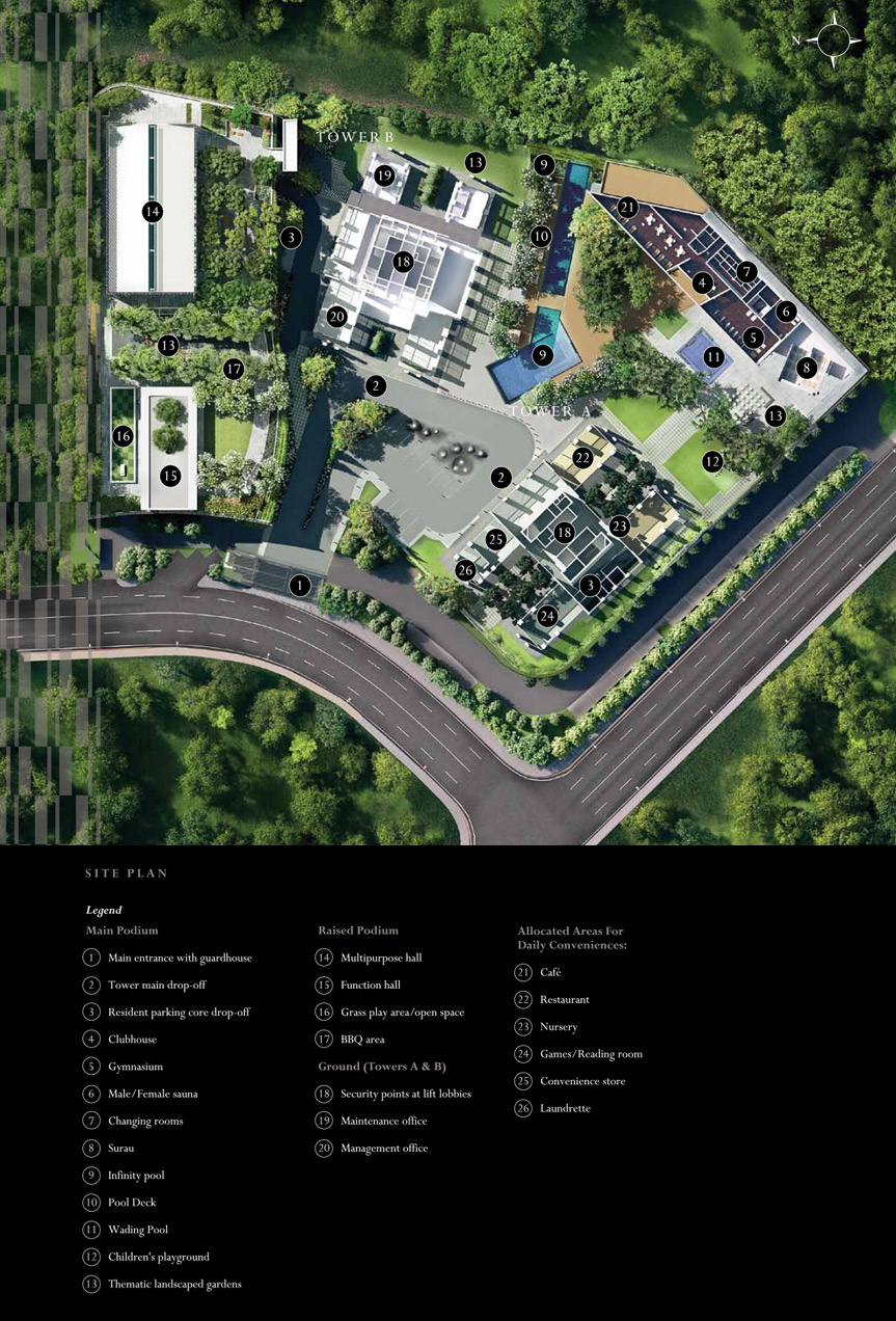 Site Plan of The Veo