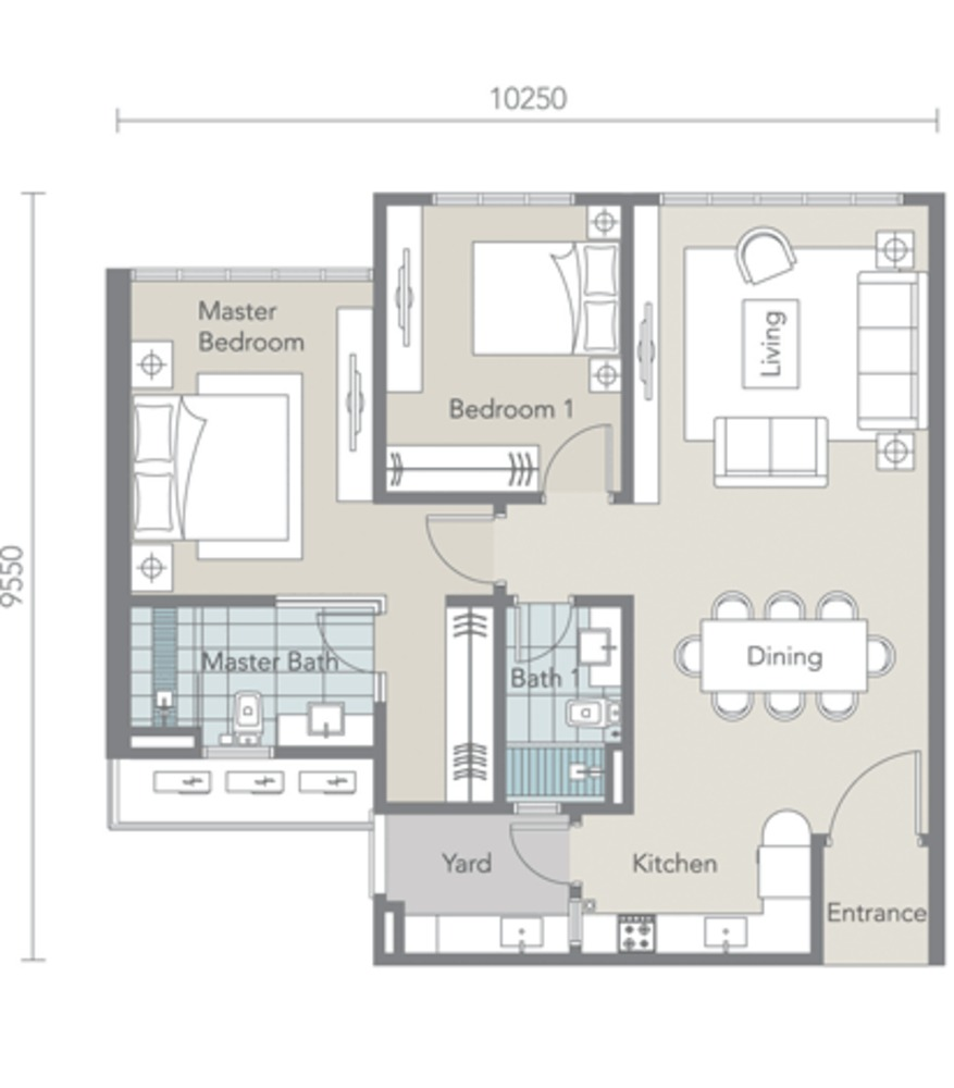 Tropez Residences Type B Floor Plan
