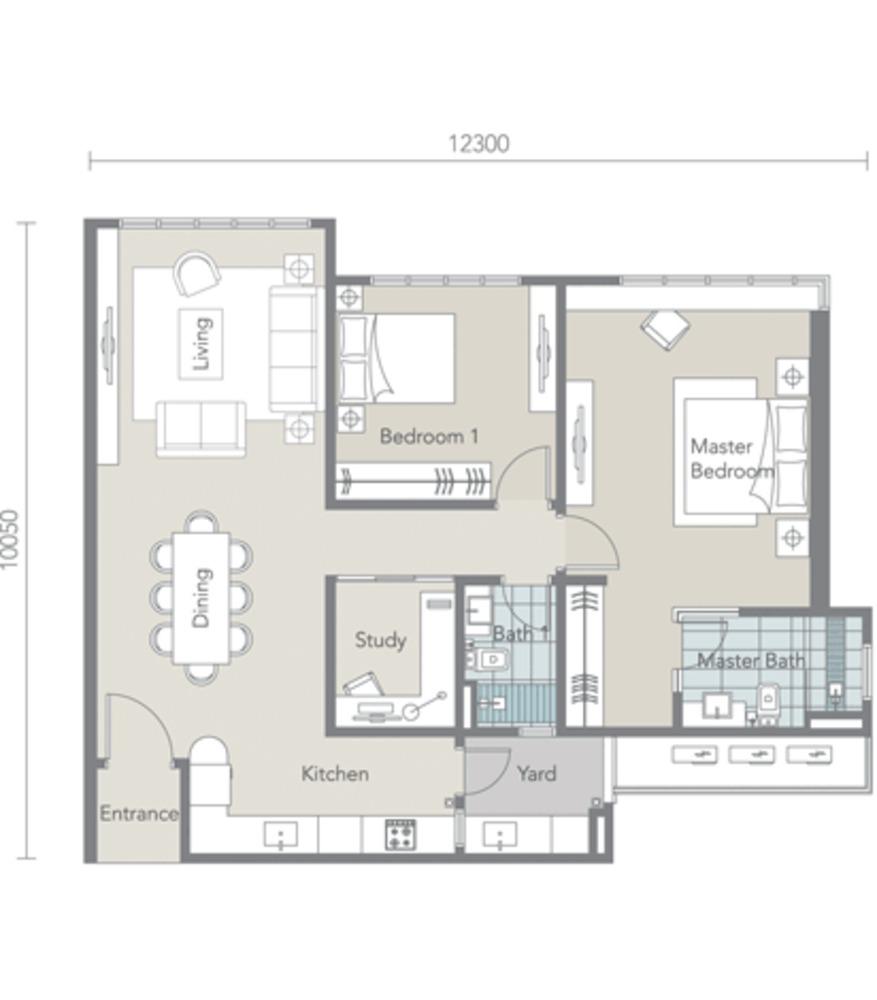 Tropez Residences Type C Floor Plan