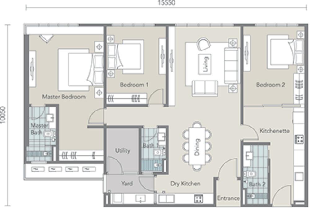 Tropez Residences Type D Floor Plan