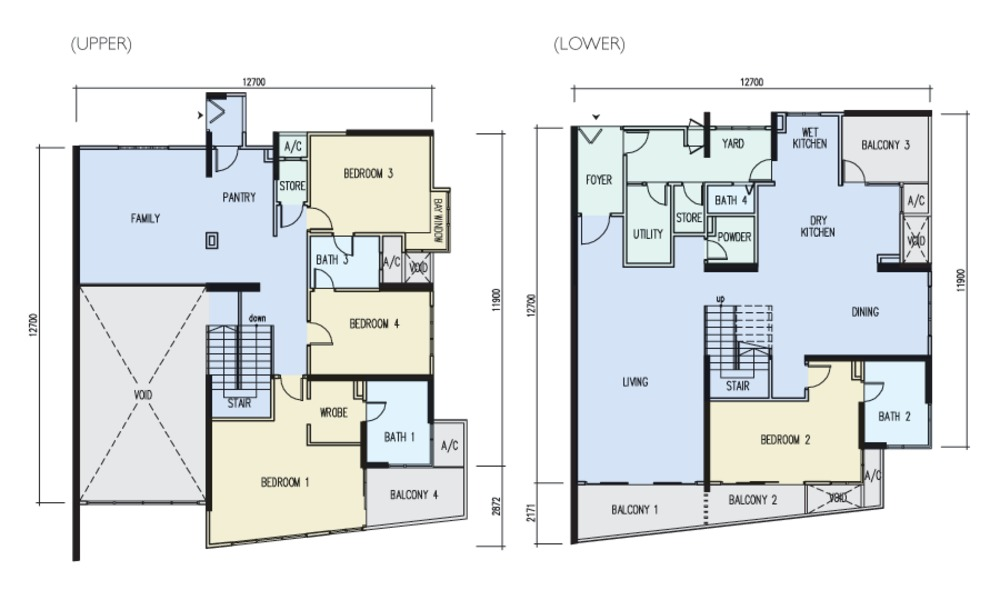 The Light Point Type F Floor Plan