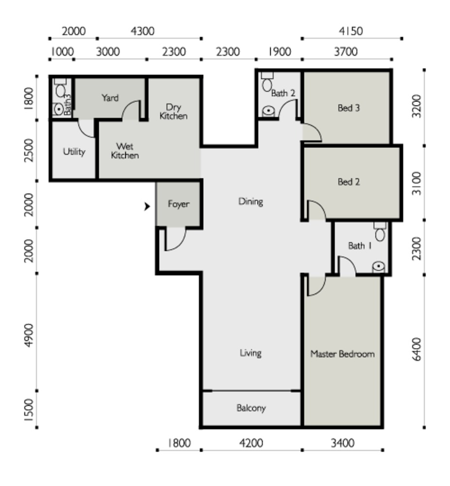 The Light Linear Type C Floor Plan