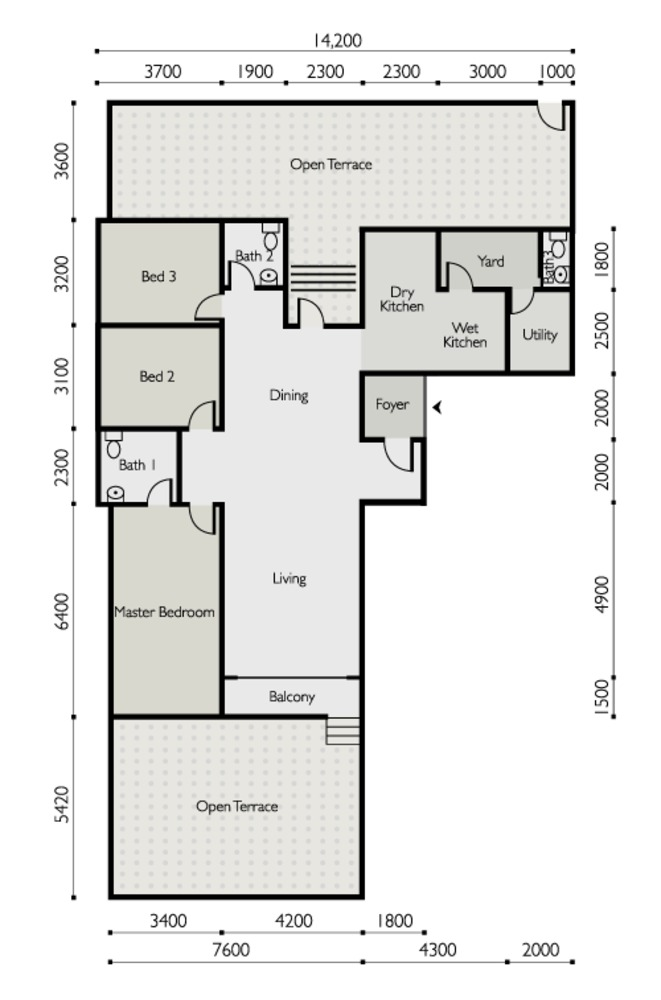 The Light Linear Type D Floor Plan