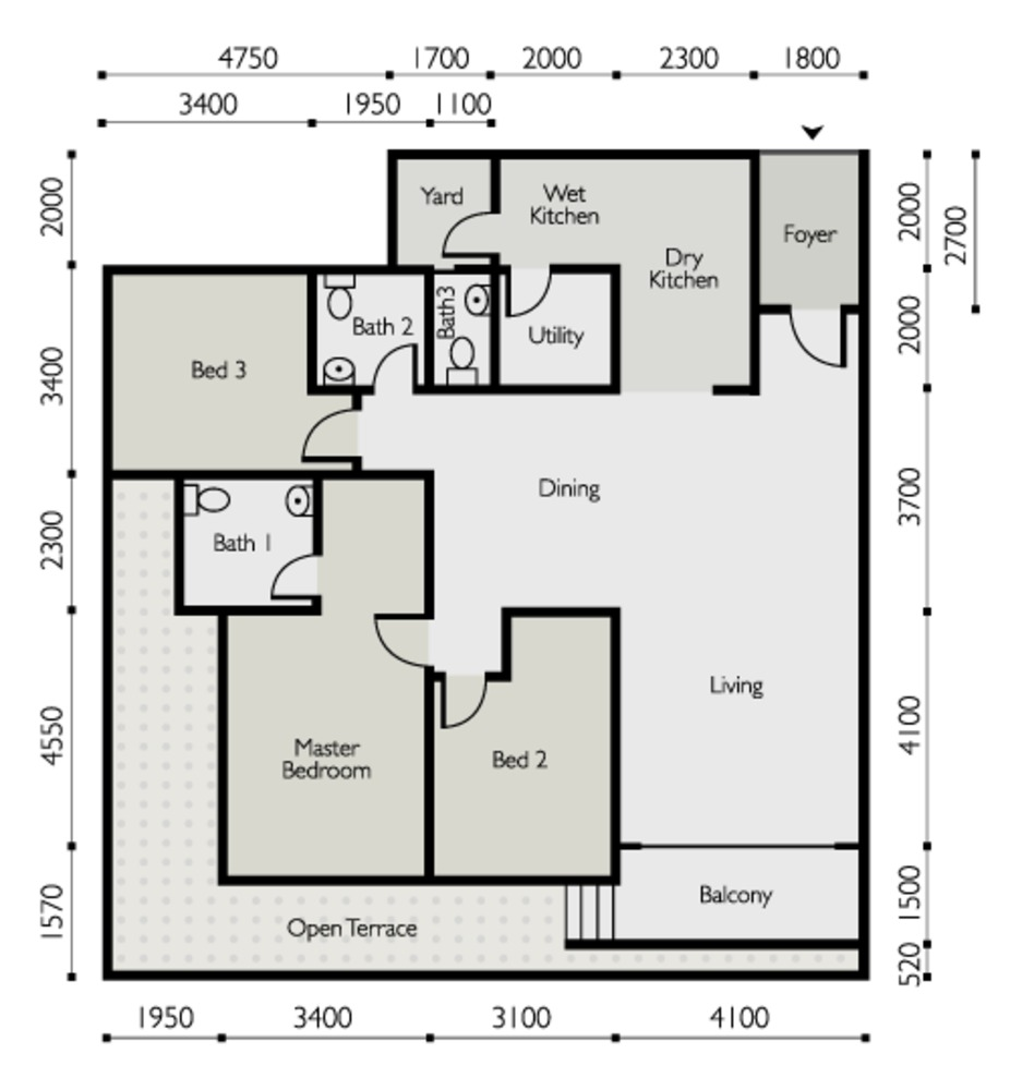 The Light Linear Type E Floor Plan