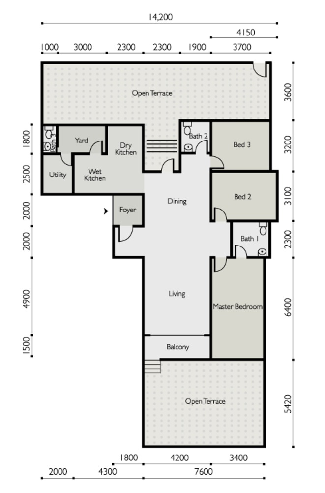 The Light Linear Type F Floor Plan