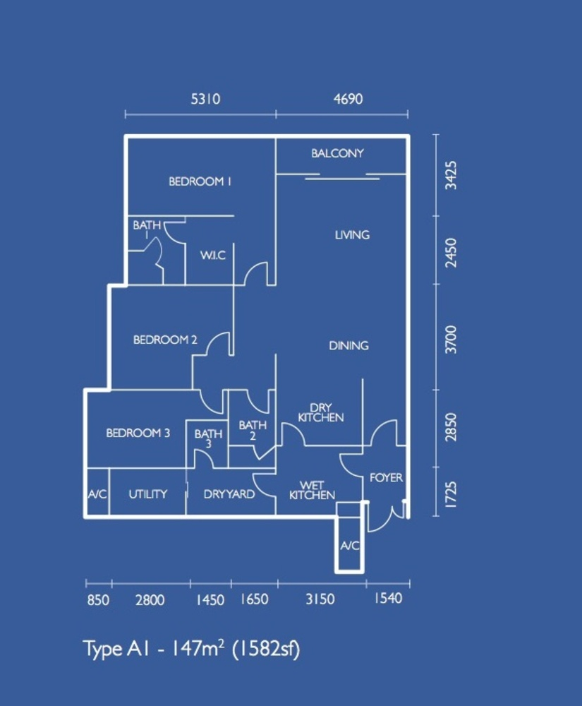 The Light Collection I Type A1 Floor Plan