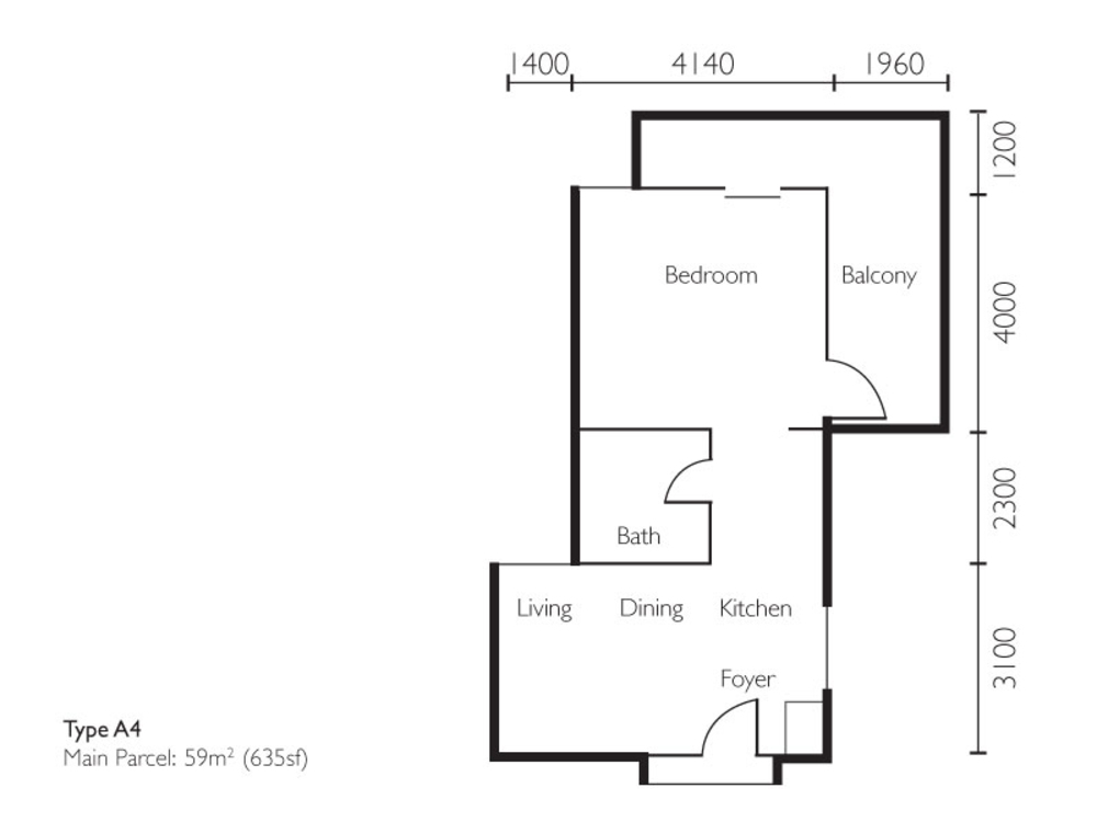 The Light Collection II Type A4 Floor Plan