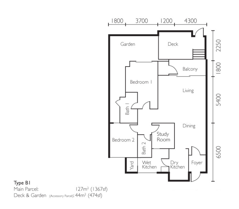 The Light Collection II Type B1 Floor Plan