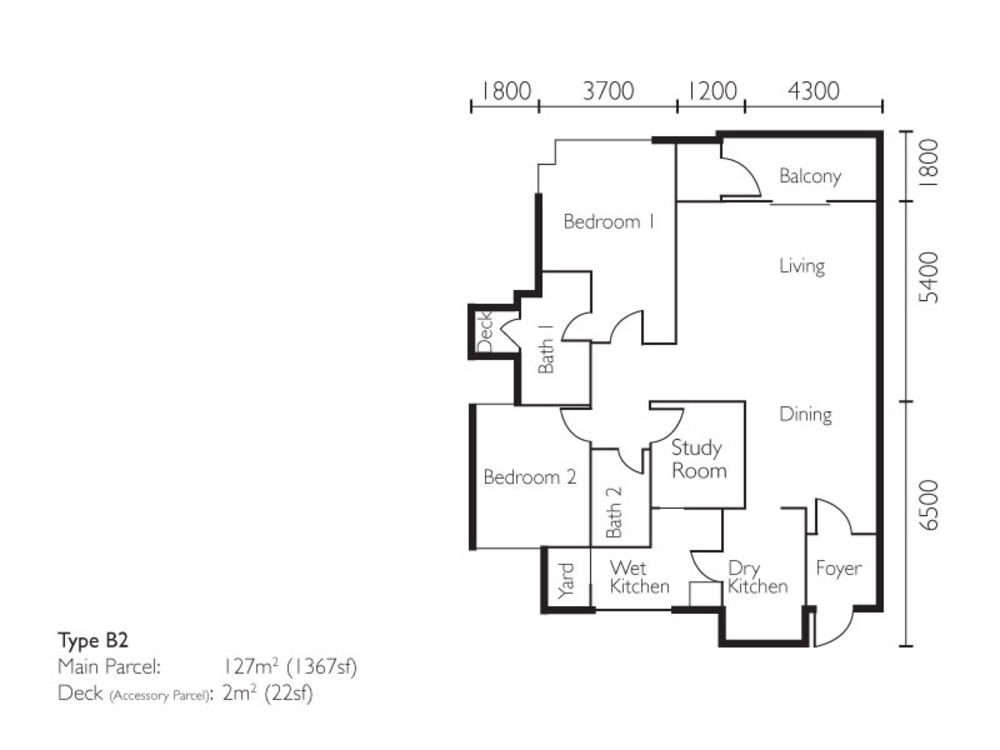 The Light Collection II Type B2 Floor Plan