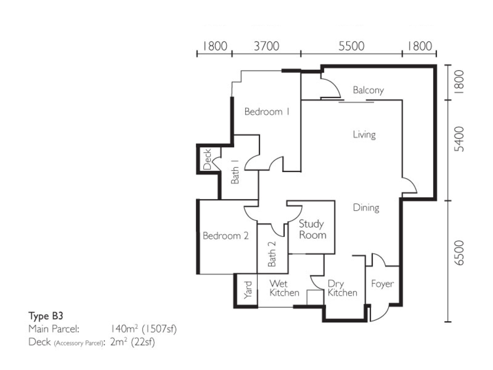 The Light Collection II Type B3 Floor Plan
