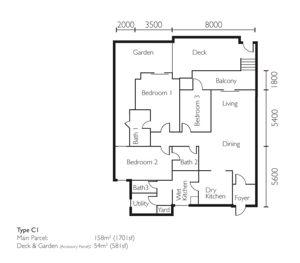 The Light Collection II Type C1 Floor Plan