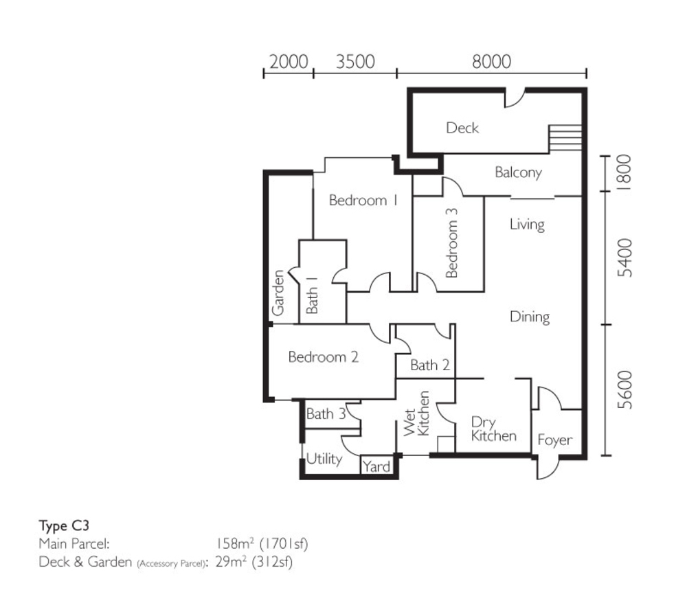 The Light Collection II Type C3 Floor Plan