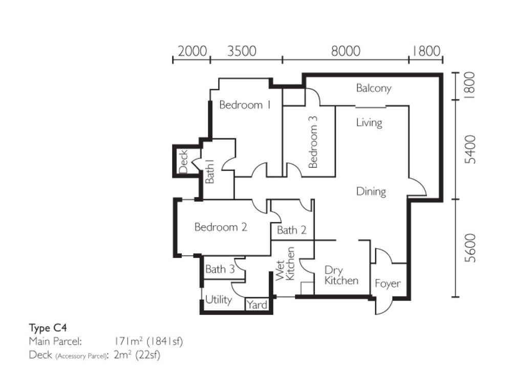 The Light Collection II Type C4 Floor Plan