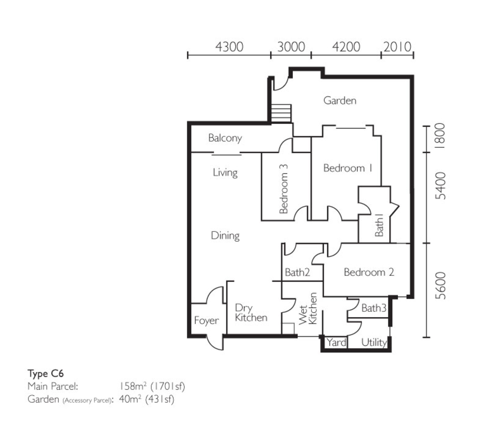 The Light Collection II Type C6 Floor Plan
