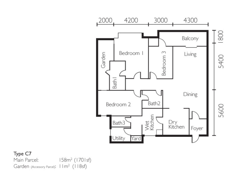 The Light Collection II Type C7 Floor Plan