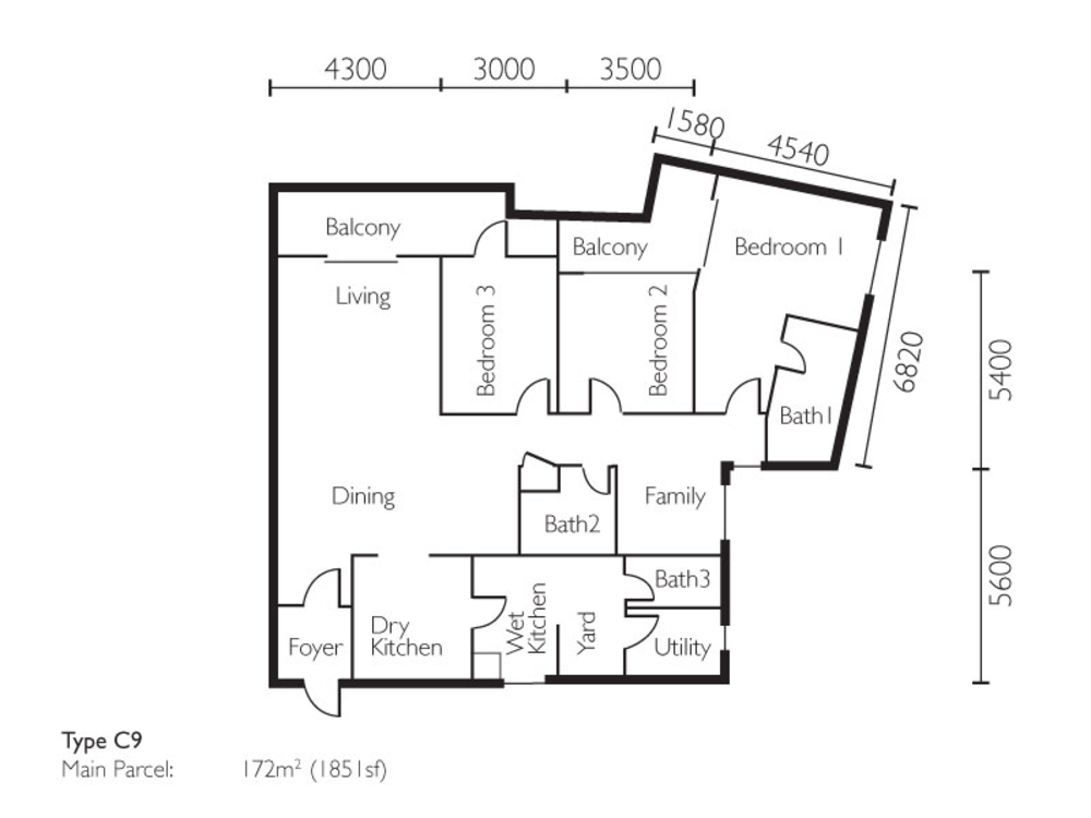 The Light Collection II Type C9 Floor Plan