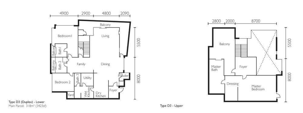 The Light Collection II Type D3 Floor Plan