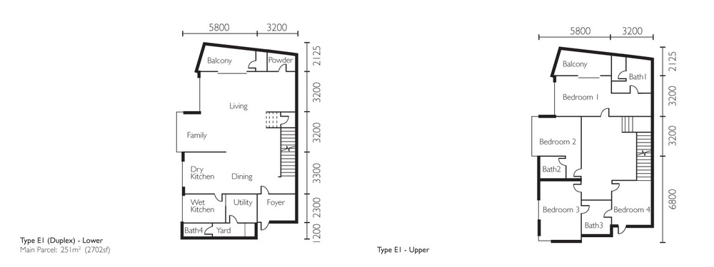 The Light Collection II Type E1 Floor Plan