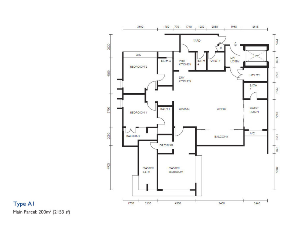 The Light Collection III Type A1 Floor Plan