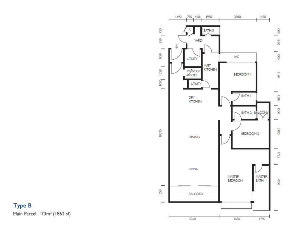 The Light Collection III Type B Floor Plan