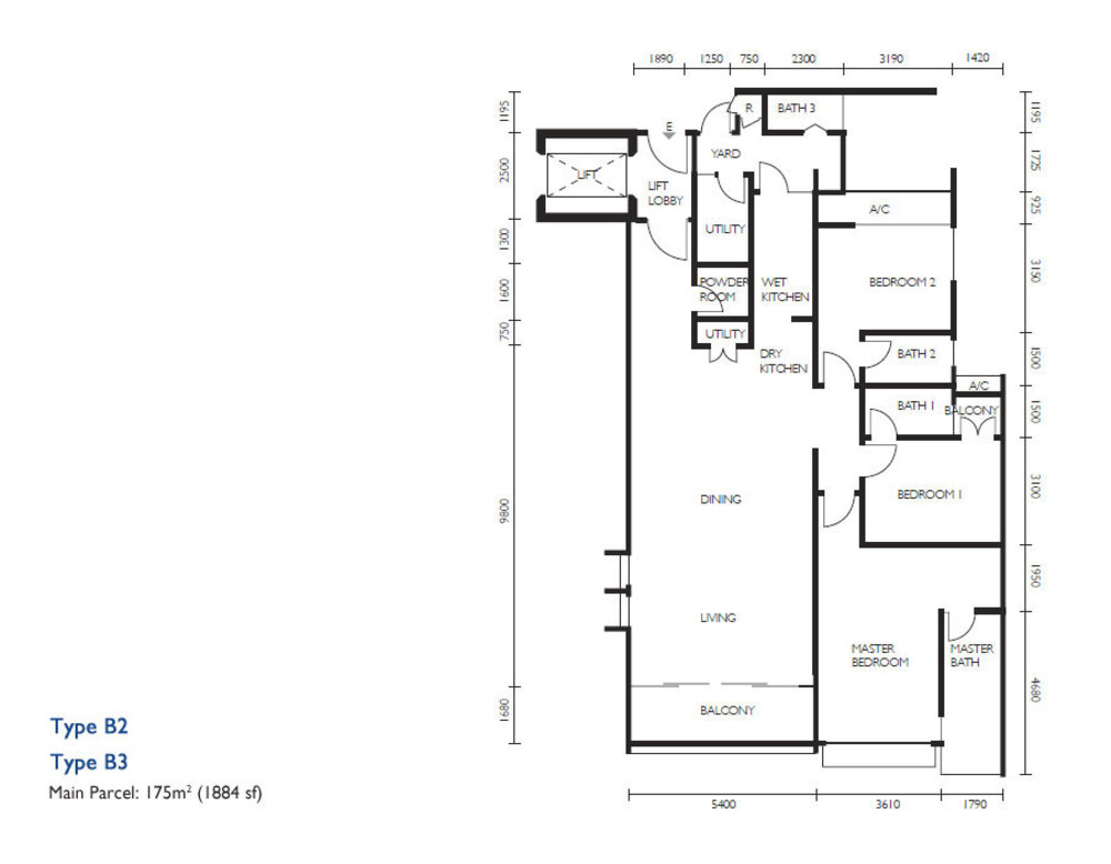 The Light Collection III Type B2 & B3 Floor Plan