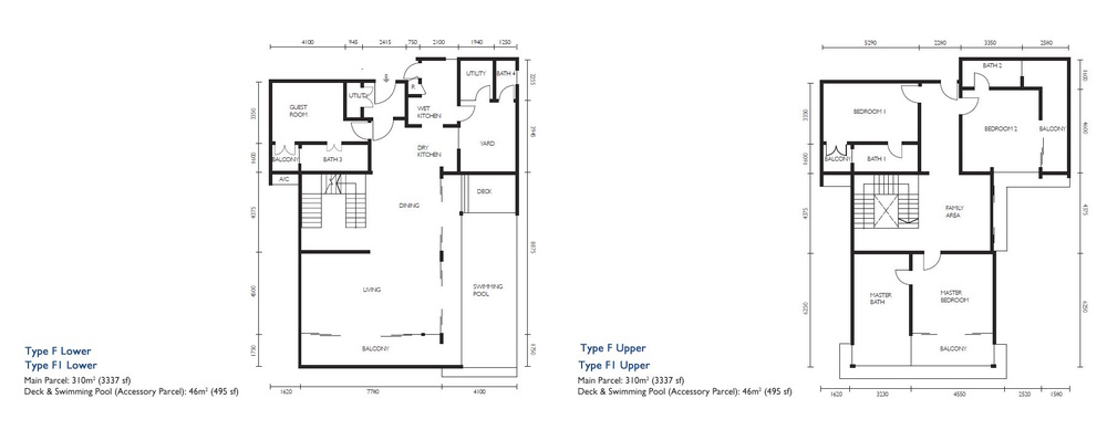 The Light Collection III Type F & F1 Floor Plan
