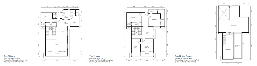 The Light Collection III Type F2 Floor Plan