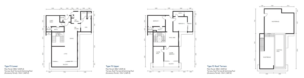 The Light Collection III Type F3 Floor Plan