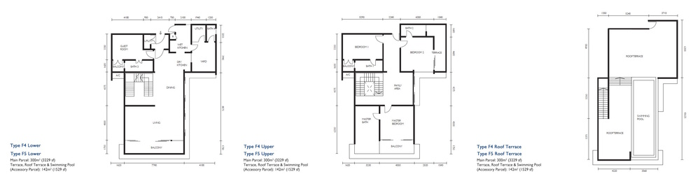 The Light Collection III Type F4 & F5 Floor Plan