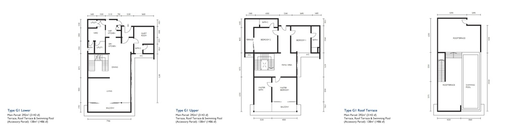 The Light Collection III Type G1 Floor Plan