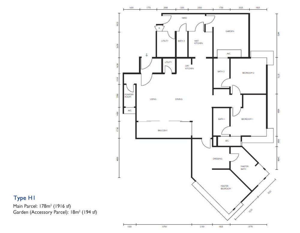 The Light Collection III Type H1 Floor Plan