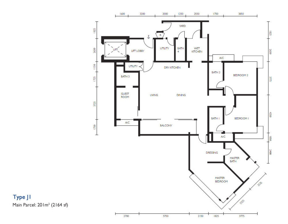 The Light Collection III Type J1 Floor Plan