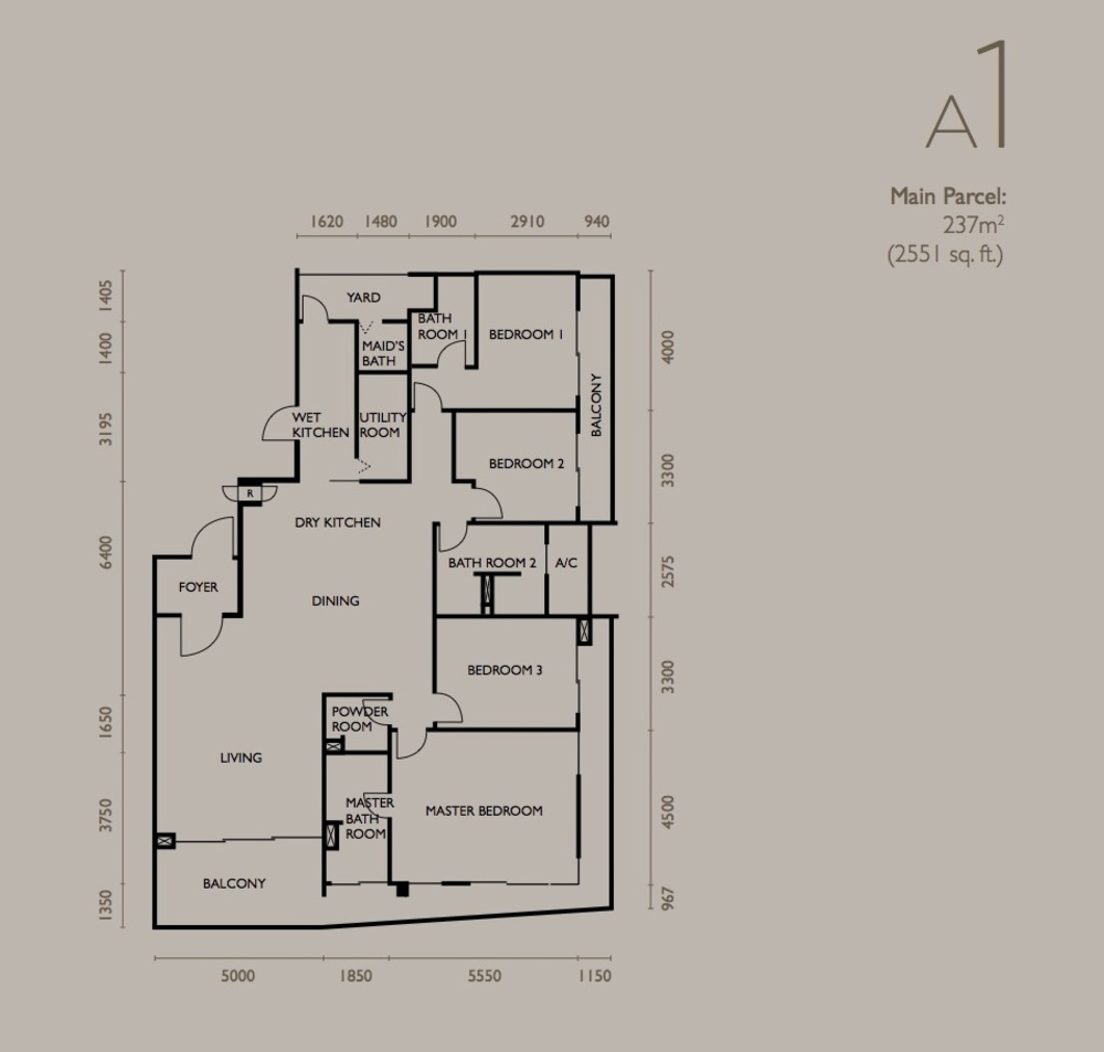 The Light Collection IV Type A1 Floor Plan