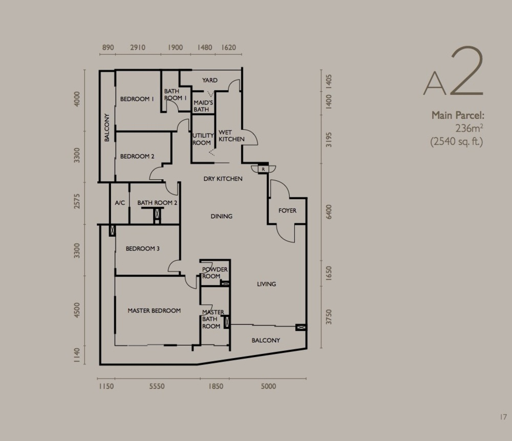 The Light Collection IV Type A2 Floor Plan