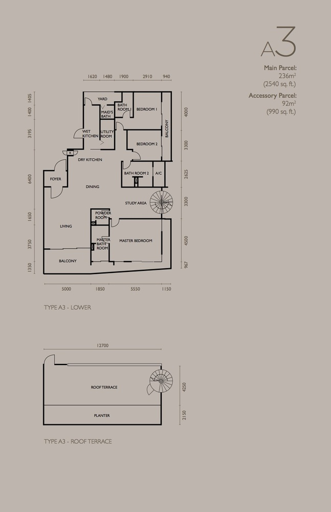 The Light Collection IV Type A3 Floor Plan