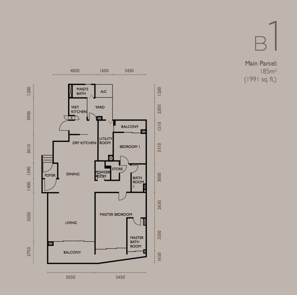 The Light Collection IV Type B1 Floor Plan