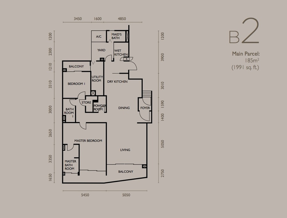 The Light Collection IV Type B2 Floor Plan