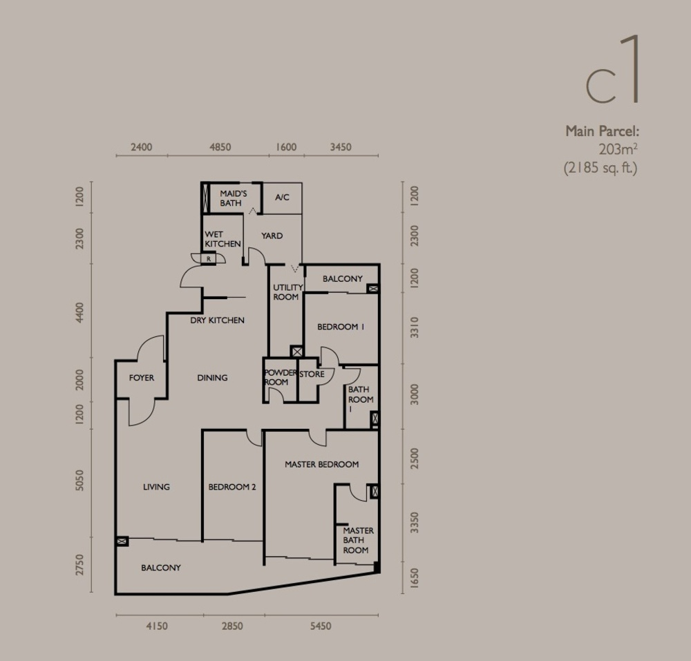 The Light Collection IV Type C1 Floor Plan