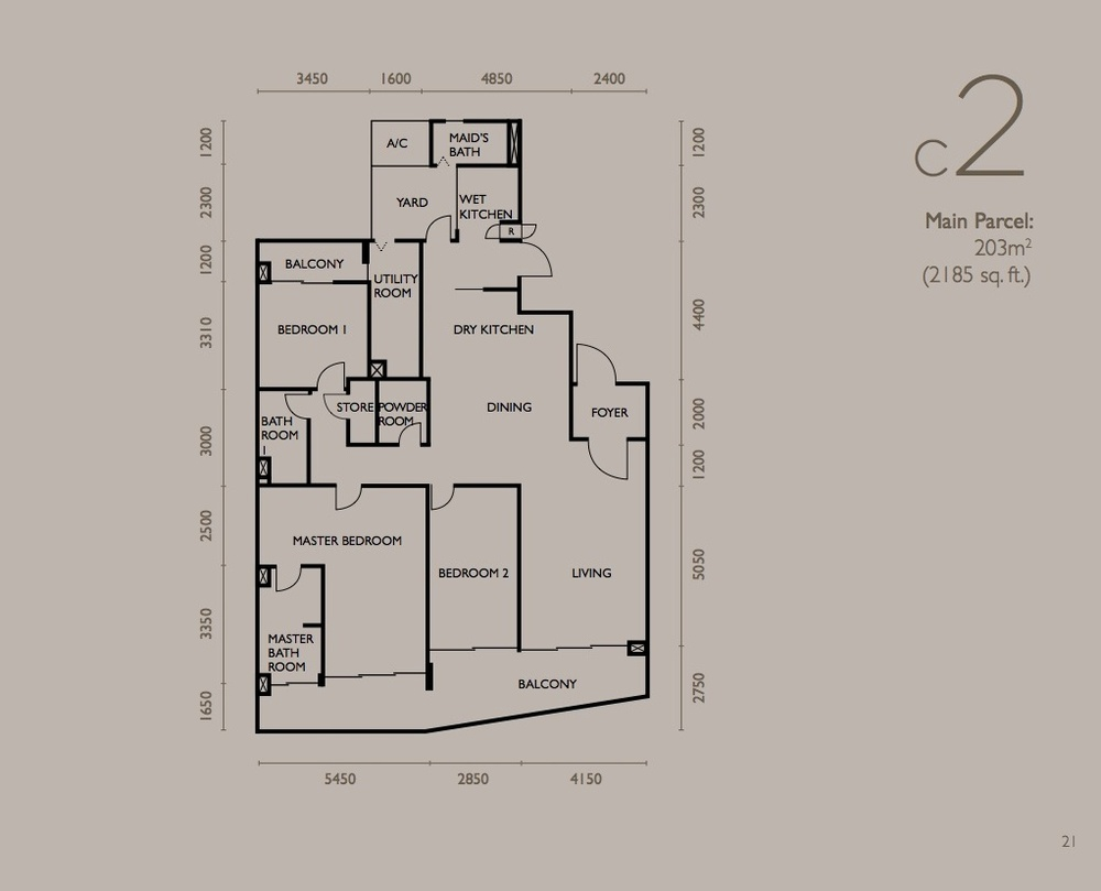 The Light Collection IV Type C2 Floor Plan