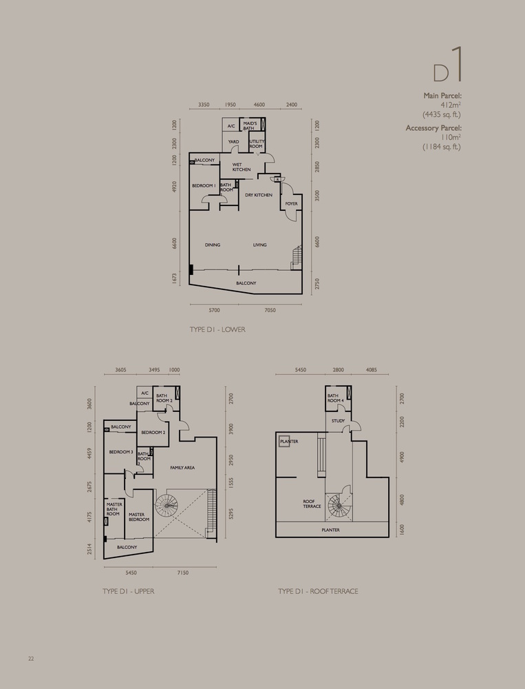 The Light Collection IV Type D1 Floor Plan