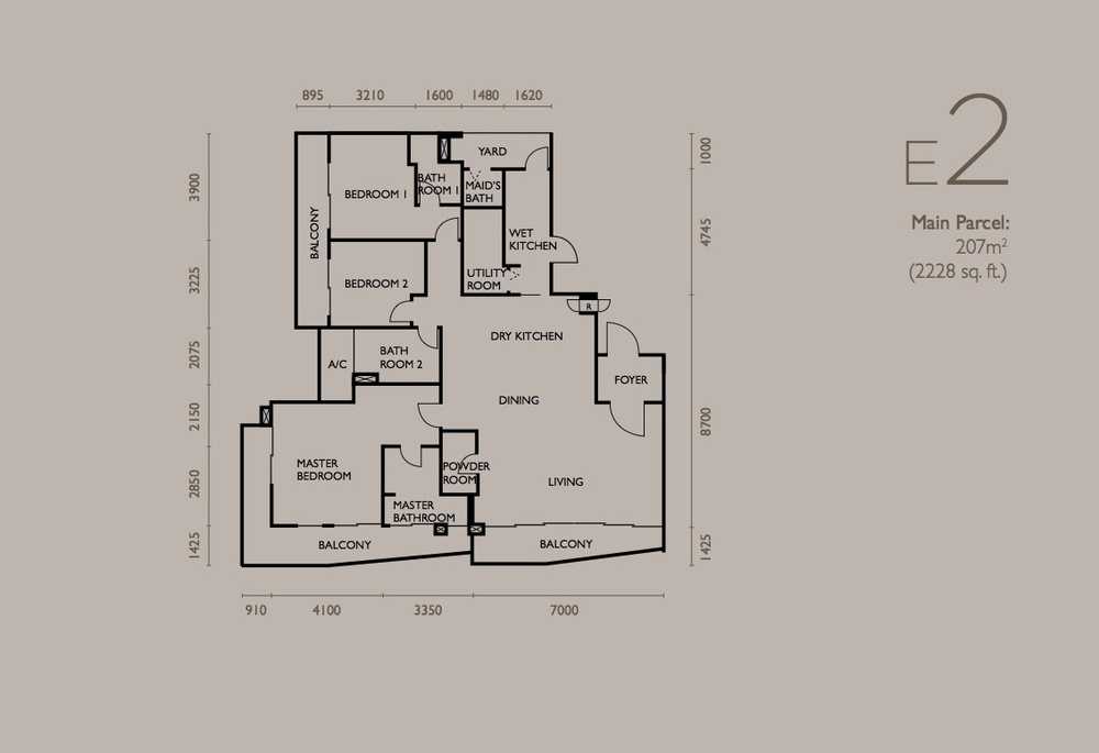 The Light Collection IV Type E2 Floor Plan