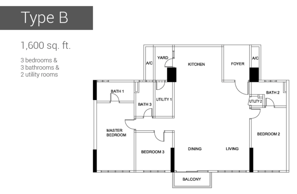 Raffel Tower Type B Floor Plan