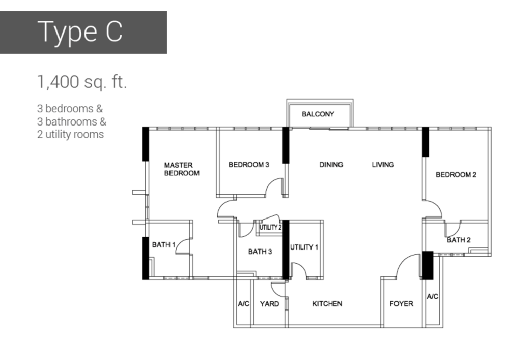 Raffel Tower Type C Floor Plan