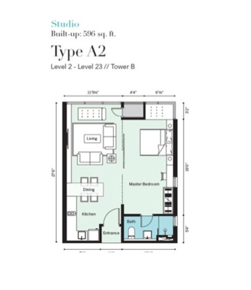 Tropicana Metropark Pandora - Type A2 Floor Plan